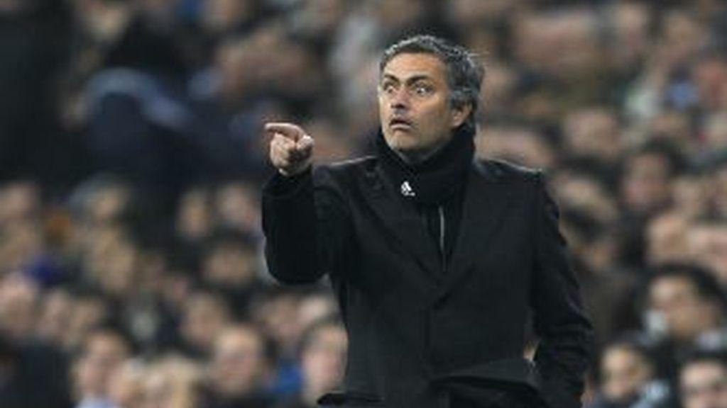 Mourinho, en el derbi de Copa. Foto: Gtres