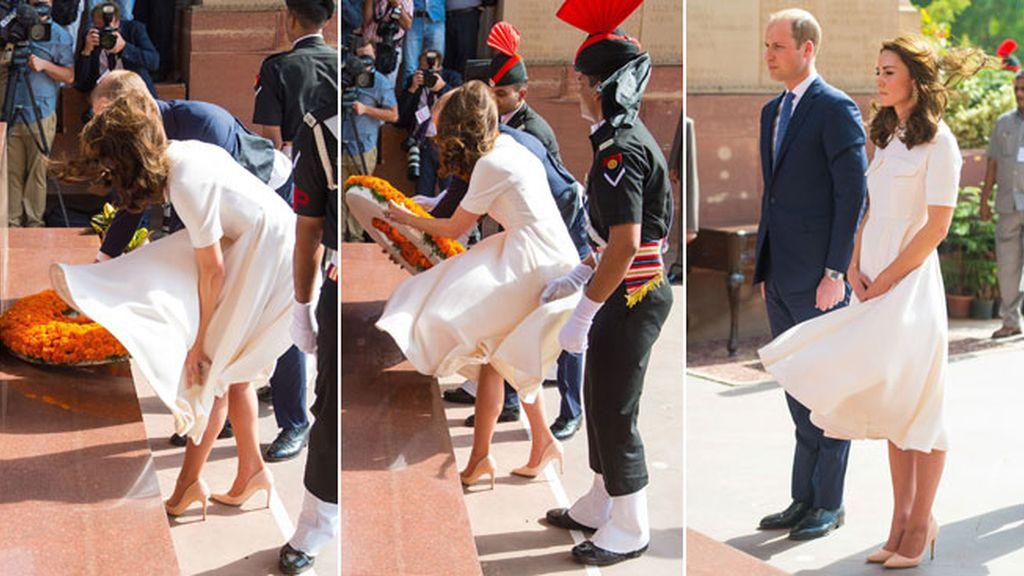 Kate Middleton hace un Marilyn Monroe en su visita oficial a la India
