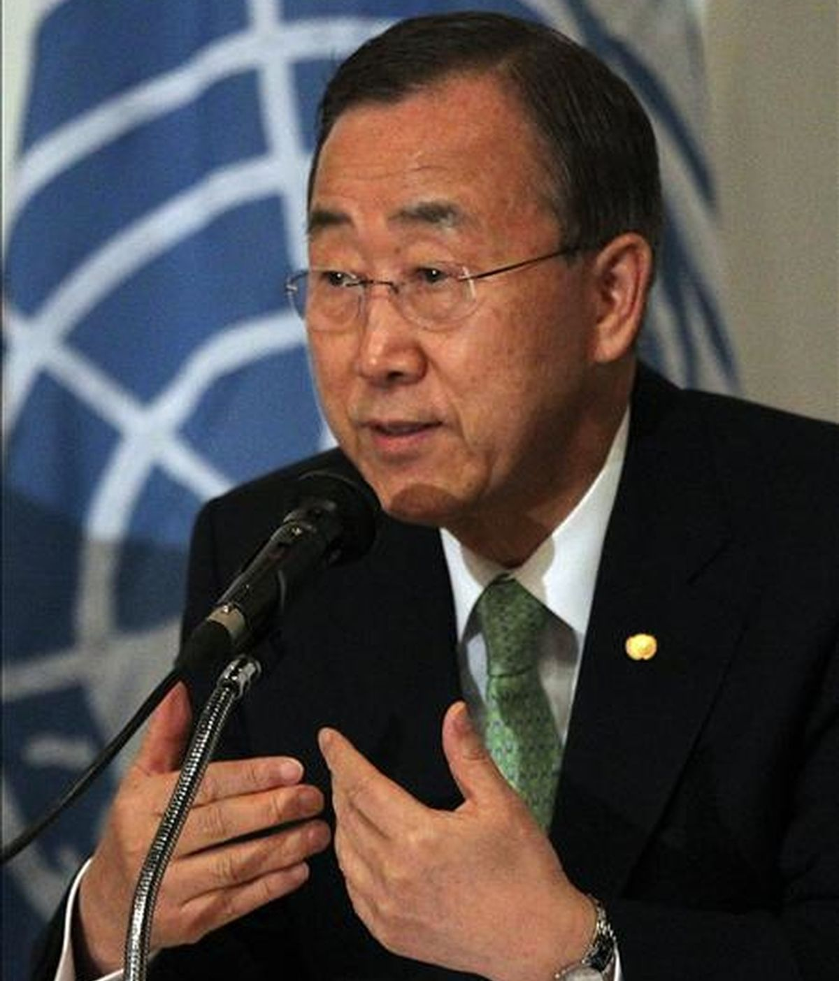 """El máximo responsable de Naciones Unidas, Ban Ki-moon, instó al Gobierno de Sri Lanka """"a cumplir con sus responsabilidades con la ONU como país anfitrión"""". EFE/Archivo"""