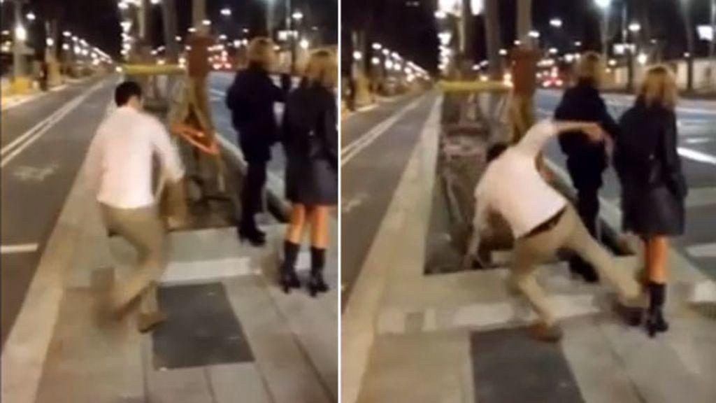 8-Pega una brutal patada a una chica en Toledo por diversión