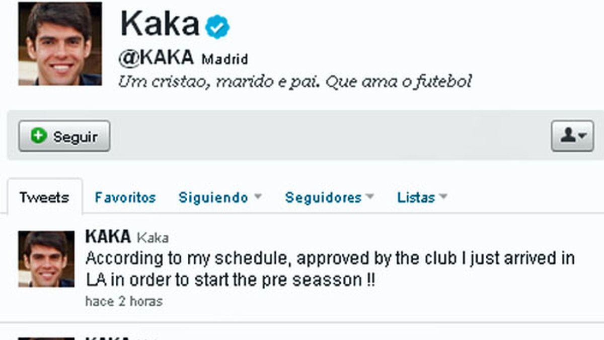 Kaká, el futbolista más seguido en Twitter