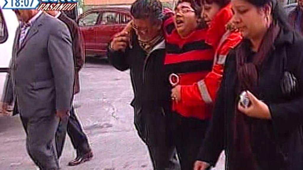 Desmayo de la la madre durante la manifestación