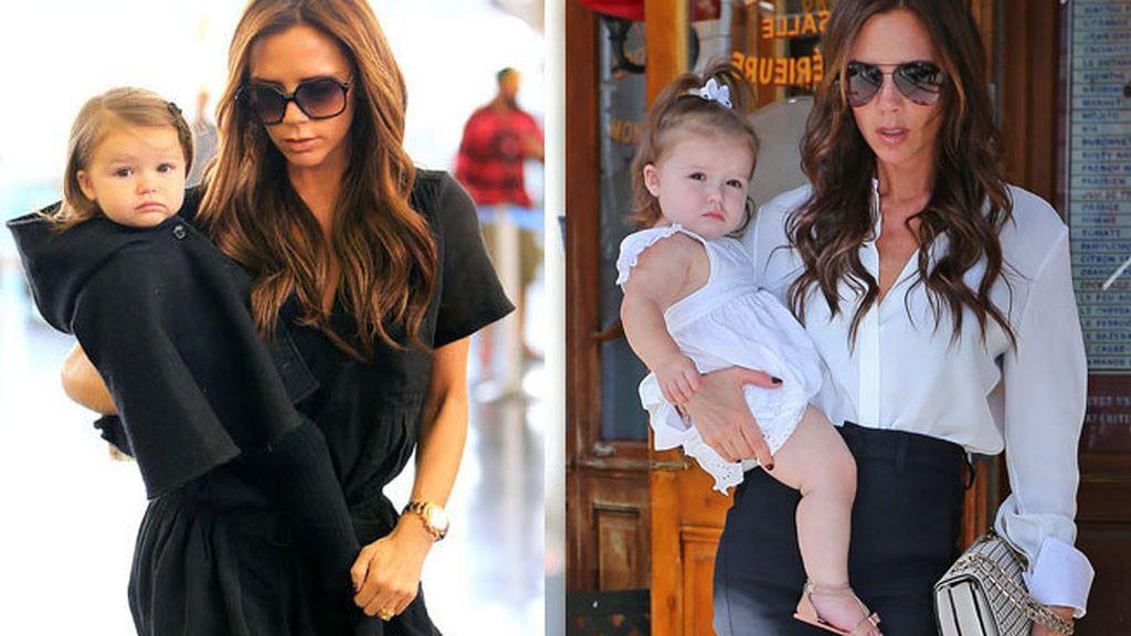 Clones perfectos: Victoria Beckham y Harper