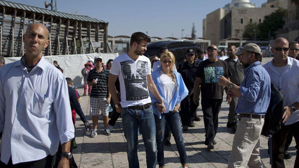 Shakira y Piqué, de viaje por Tierra Santa.