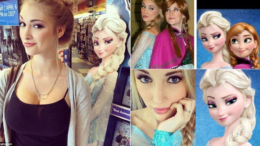Su parecido con una princesa Elsa de Frozen, le lanza al estrellato