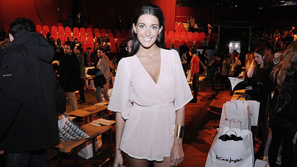 Noelia López brlló en el front row con este vaporoso vestido