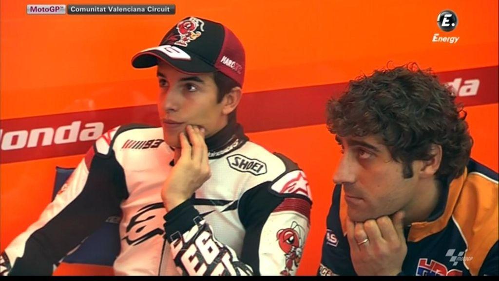 Márquez, con nuevo mono, preparado para rodar en los test de Valencia