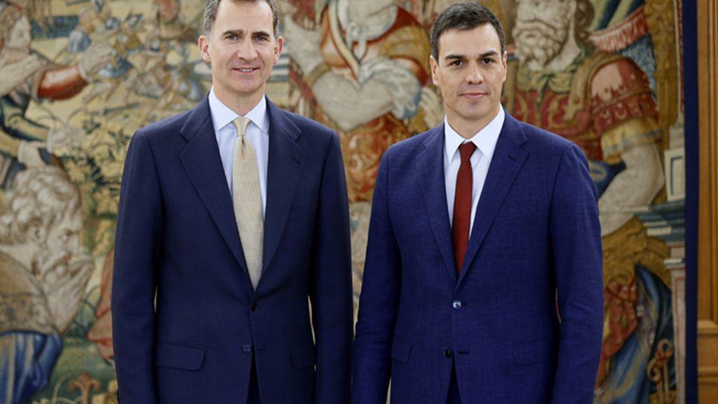 El Rey recibe en Zarzuela a Pedro Sánchez