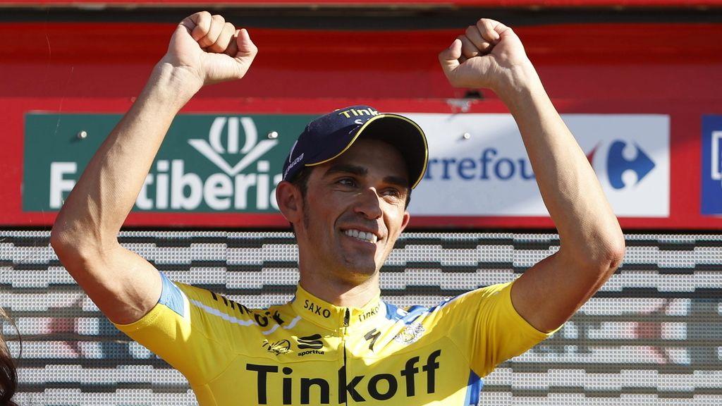 Alberto Contador (Tinkoff) se pone de rojo tras la crono