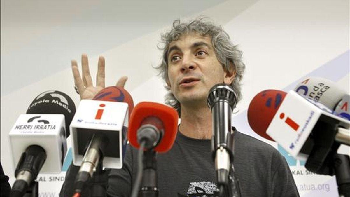 El responsable del Área Social del sindicato ELA, Mikel Noval. EFE/Archivo
