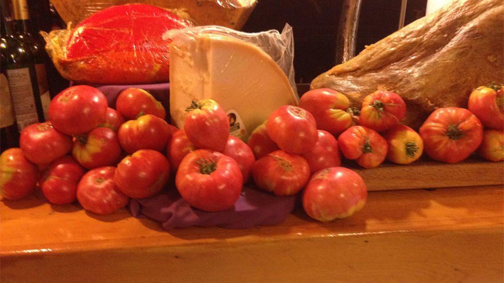 Tomates de Barbastro en Madrid