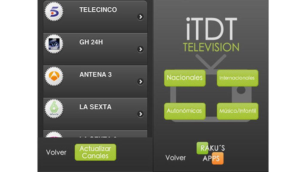 iTDT Televisión para ver la televisión desde cualquier parte en tu movil