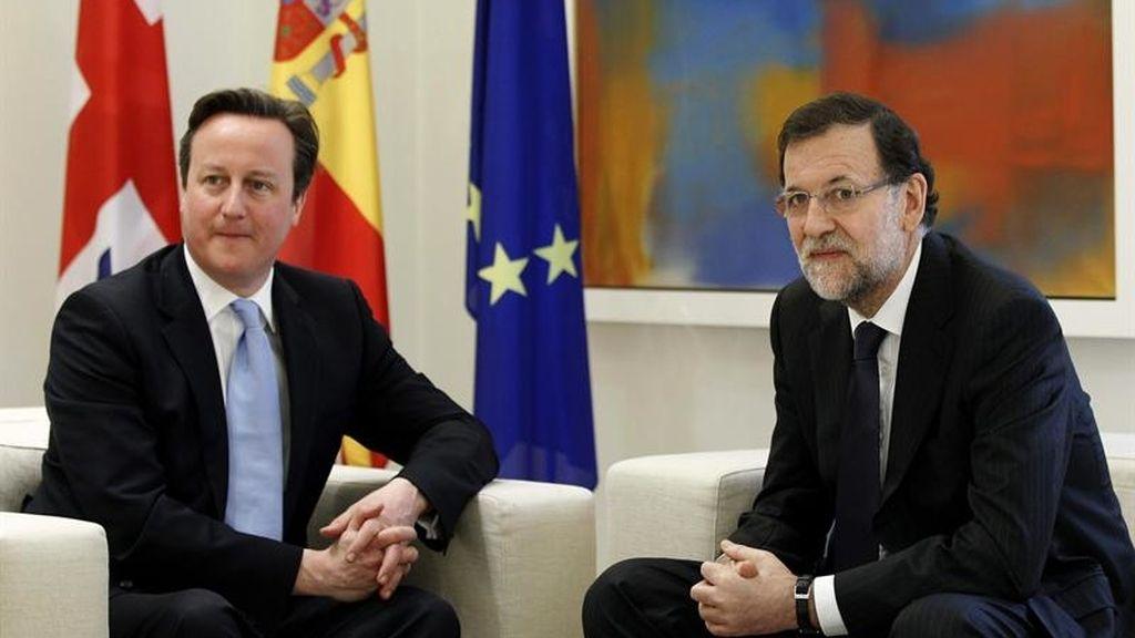 David Cameron y Mariano Rajoy, juntos en La Moncloa