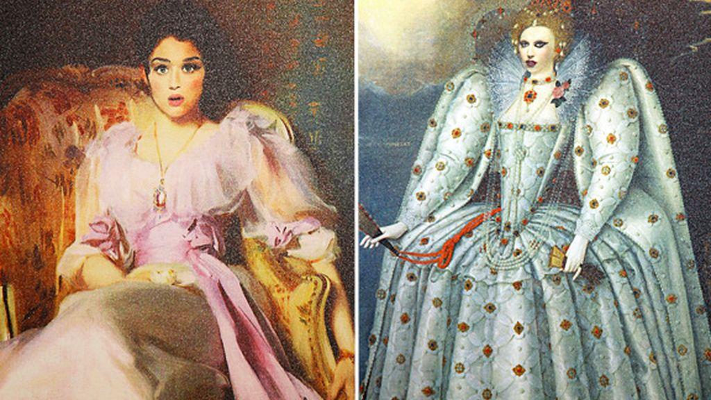 Kate Perry y Lady Gaga,  recreadas como personajes de cualquier corte europea.