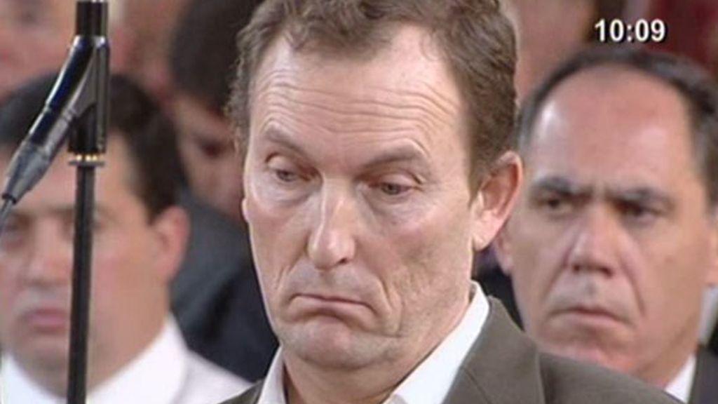 El lenguaje gestual de Santiago Mainar durante el juicio