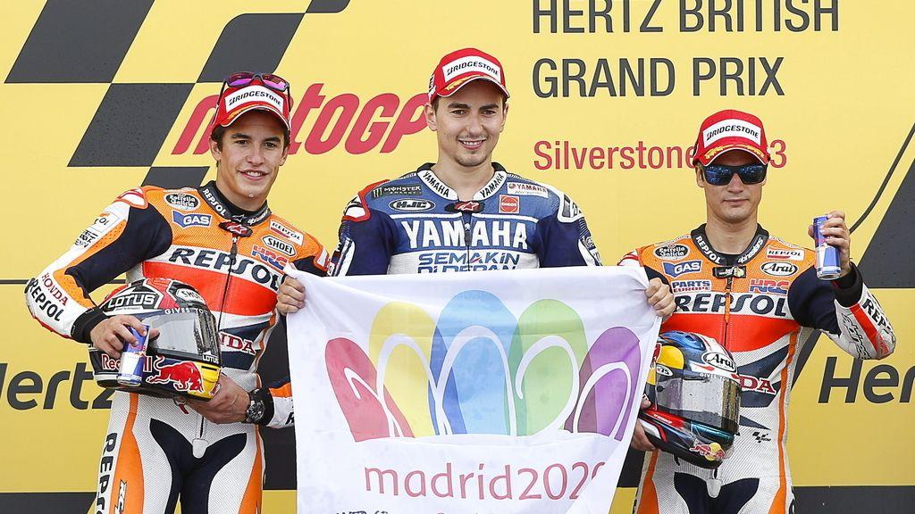 Márquez, Lorenzo y Pedrosa, con Madrid 2020