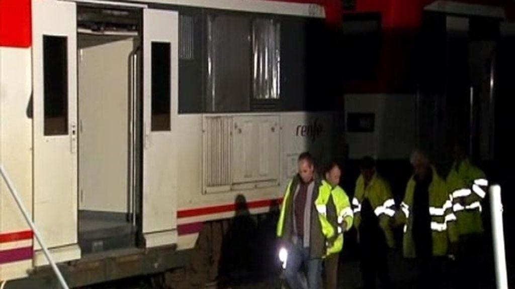 Un tren descarrila en Sitges