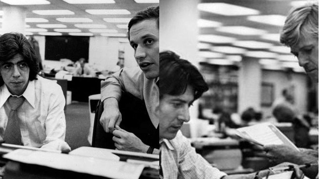 Robert Redford, y Dustin Hoffman interpretaron a Bernstein y Woodward en 'Todos los hombres del presidente'