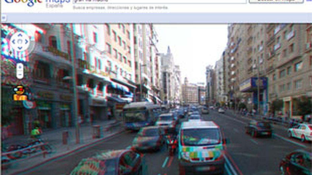 Google Street View ofrece la posibilidad de visionar las calles en 3D. Foto: Google.