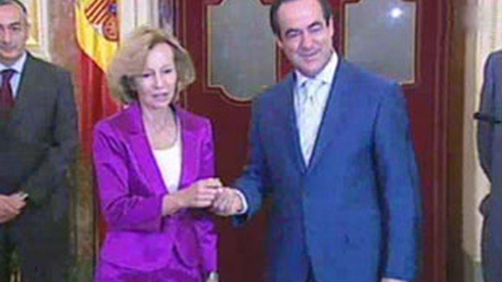 La ministra de Economía, Elena Salgado, defiende el Proyecto de los Presupuestos. Vídeo: ATLAS.