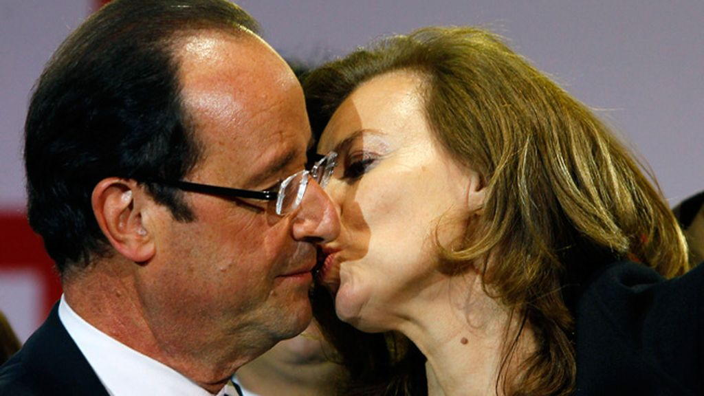 François Hollande y Válerie Trierweiler