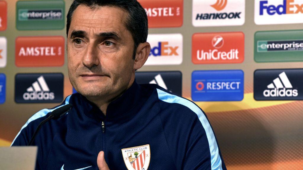 El entrenador del Athletic Club, Ernesto Valverde