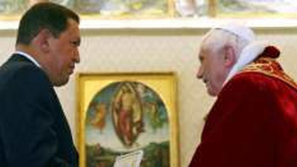 Chávez con Benedicto XVI