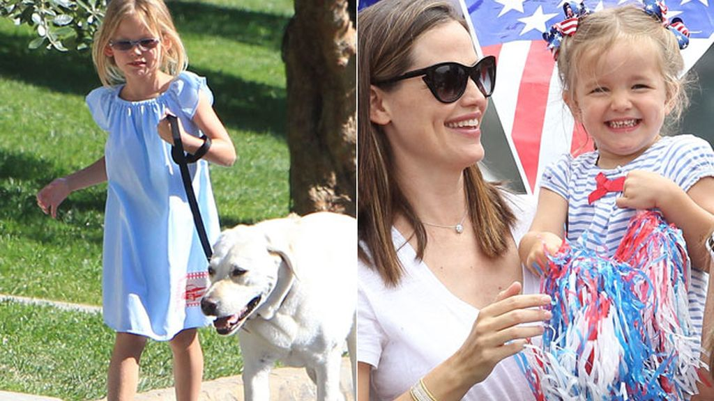 Violet y Seraphine, las hijas de Ben Affleck y Jennifer Garner