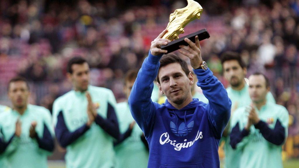 Messi ofrece su tercera 'Bota de Oro' al Barça