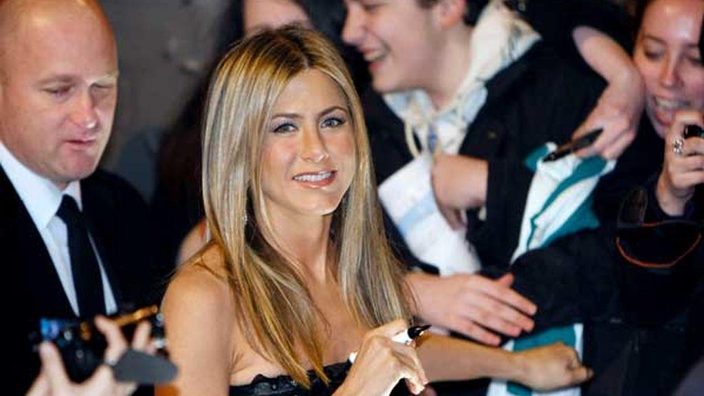 Aniston despierta la pasión en Madrid