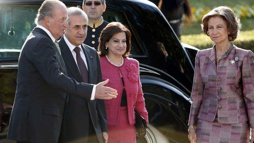 Los Reyes con el presidente del Líbano