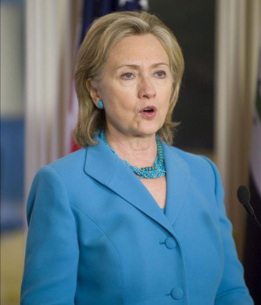 La secretaria estadounidense de Estado, Hillary Clinton. EFE/Archivo