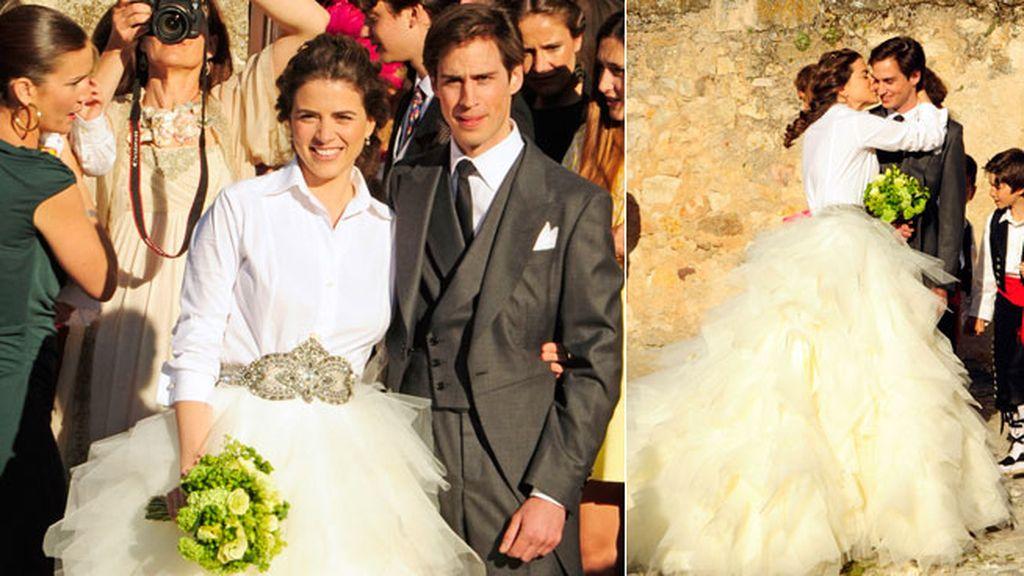 Los novios, Mafalda Muñoz y Gonzalo Machado, muy felices en su día