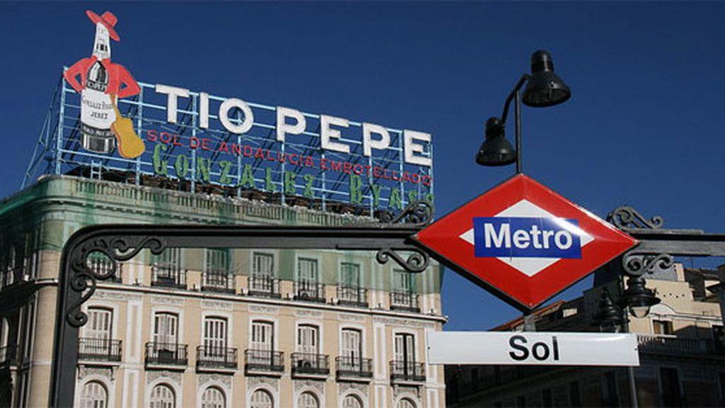 Cartel de Tío Pepe en la Puerta del Sol