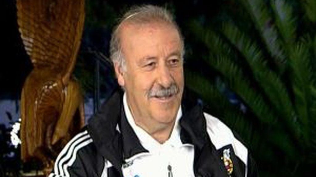 Del Bosque, durante la entrevista con JJ.Santos. Vídeo: INFORMATIVOS TELECICNO
