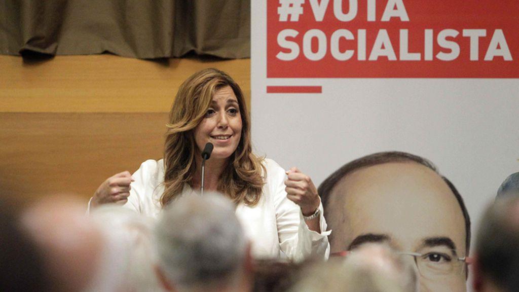 Susana Díaz participa en la campaña electoral catalana
