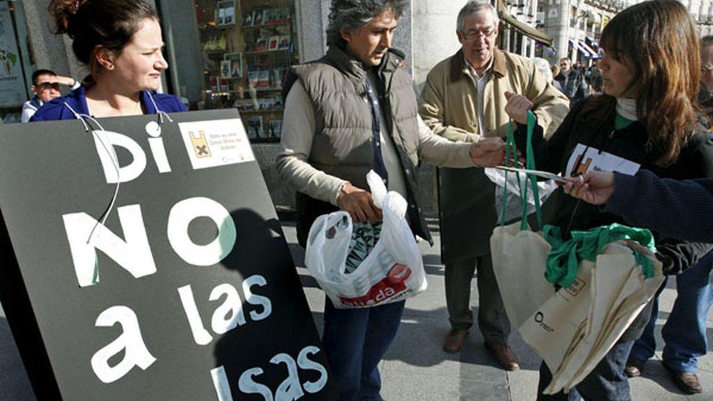 Contra las bolsas de plástico