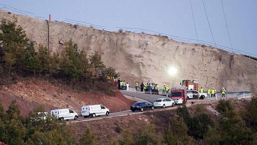 Mueren cuatro personas en un accidente laboral en una presa en Castrovido