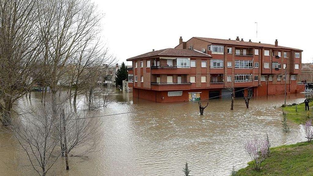 El río Sega se desborda en Valladolid