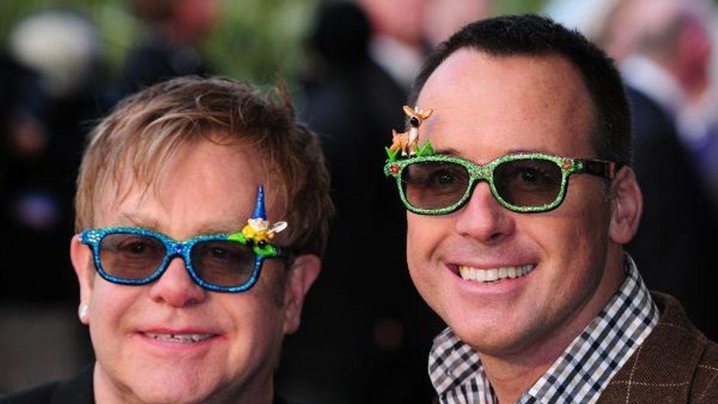 Elton John y su marido, David Furnish