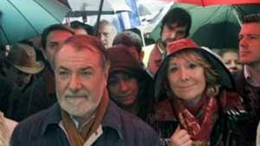Destacados miembros populares han participado en la protesta. Vídeo: ATLAS.