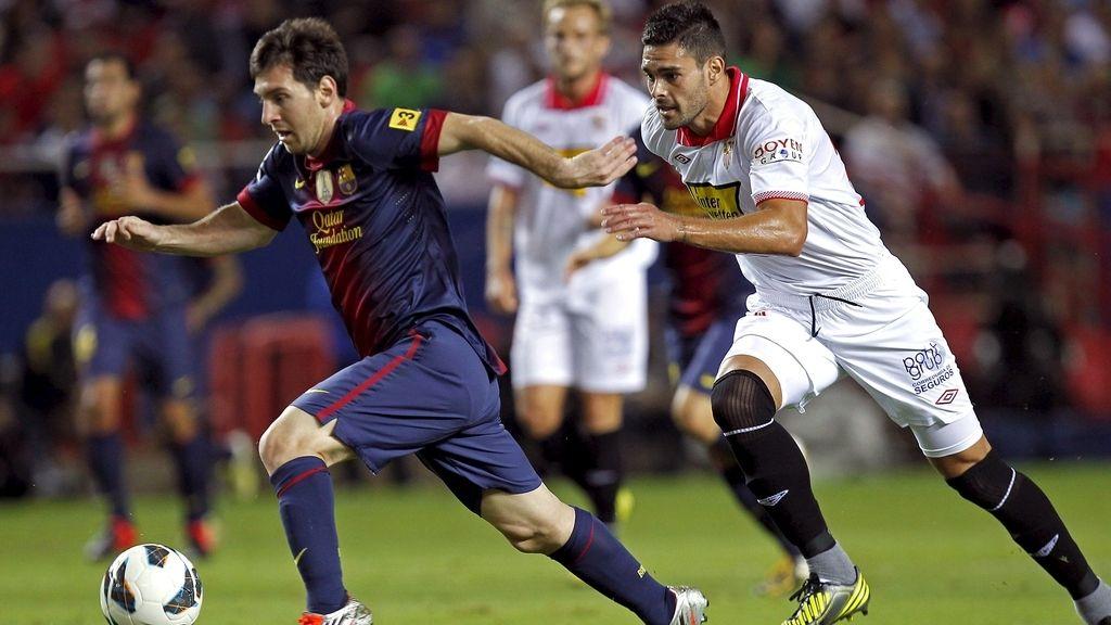 El Barcelona gana al Sevilla 2-3. Foto: EFE