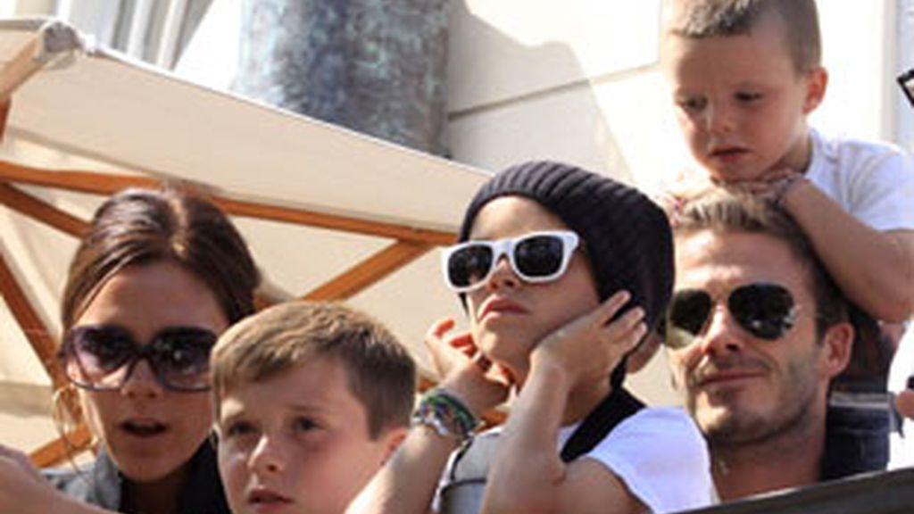 La familia Beckham se aprieta el cinturón en tiempos de crisis. Foto: Gtres/Archivo