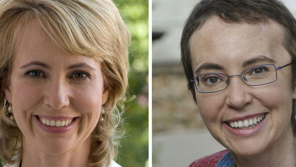 Gabrielle Giffords antes y después de sufrir el disparo.