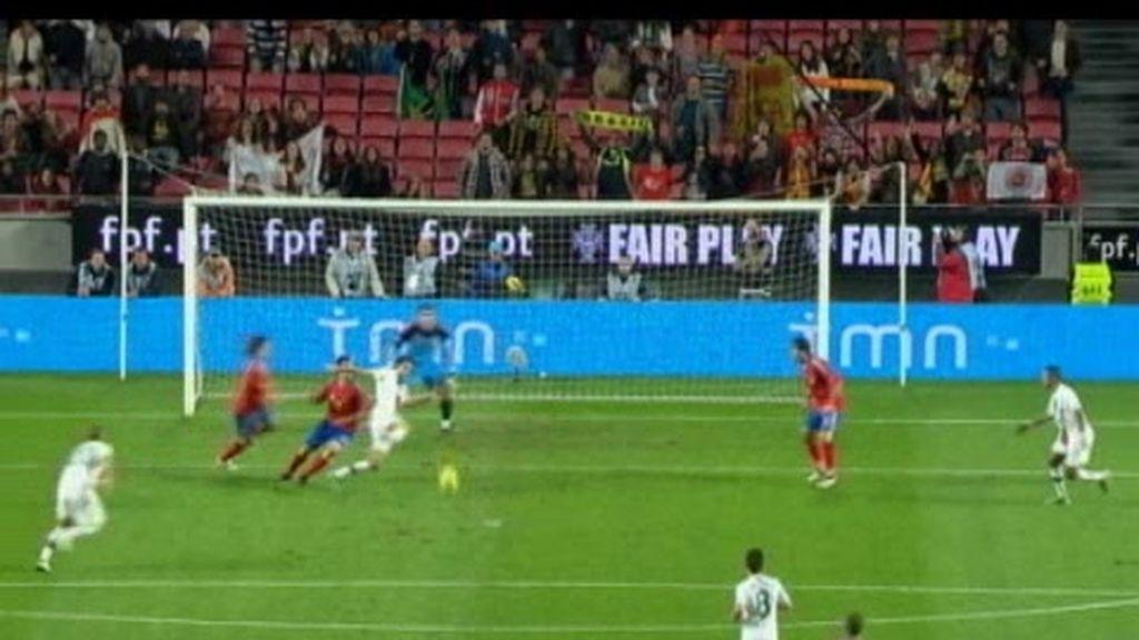 España pierde ante Portugal