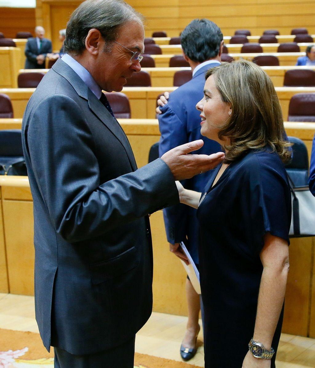 La vicepresidenta Soraya Sáenz de Santamaría en el Senado