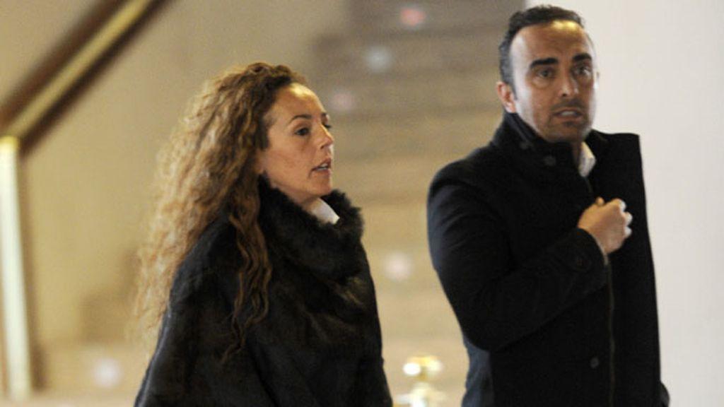 Rocía Carrasco con su pareja, Fidal Albiac