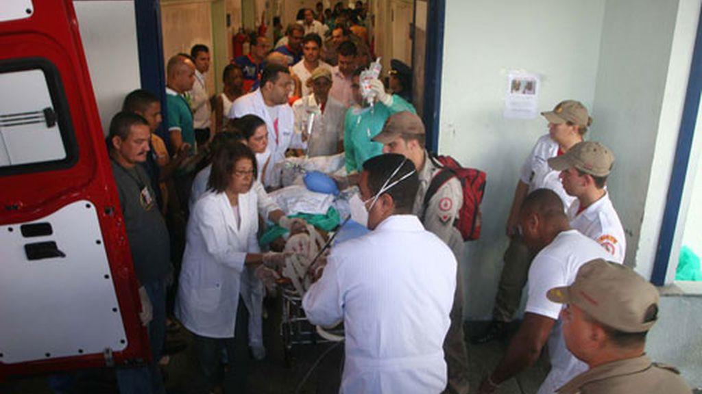 De los 30 heridos, 18 han tenido que ser trasladados a un hospital. Vídeo: ATLAS.