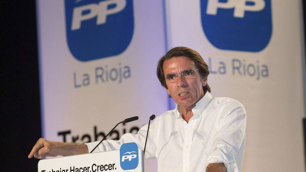 Aznar recrudece el discurso en Logroño