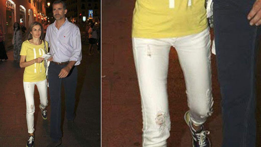 Letizia y los 'ripped jeans'